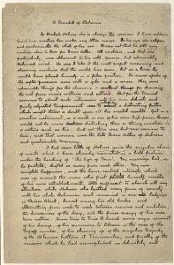 Handwritten draft of A Scandal in Bohemia by Sherlock Holmes
