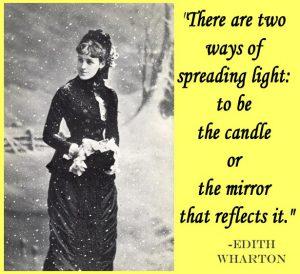 Edith Wharton mirror quote