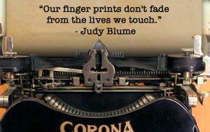 Wisdom from Judy Blume