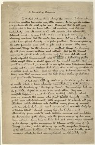 Handwritten draft of A Scandal in Bohemia by Sherlock Holmes